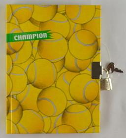 Tennis Diary w/Lock