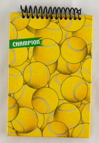 Tennis Ball Design Upper Coil Notebook