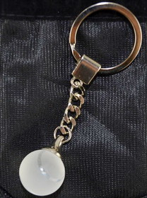 Crystal Tennis Ball Key Ring