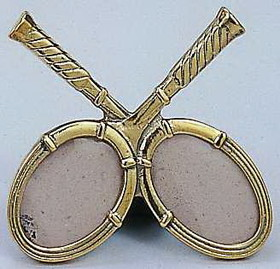 Brass Cross Racquet Picture Frame