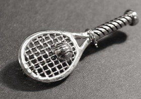 Racquet w/Ball Pin-Silver