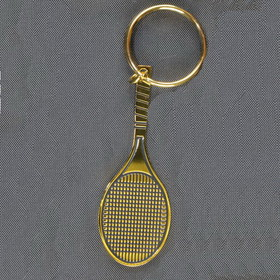 Tennis Racquet Keyring-Black/Gold