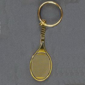 Tennis Racquet Keyring-Black/Gold