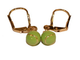 Tennis Earrings Gold w/Color Ball