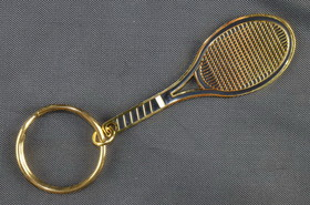 Brass Racquet Key Ring