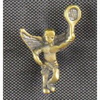 Brass Tennis Angel Pin