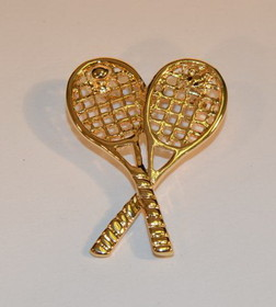 Crossed Racquets Pin