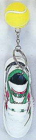 Tennis Shoe/Ball Keyring- Red/Green
