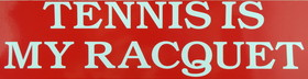 "Tennis Sticker ""My Racquet""-Red"