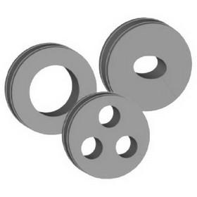 "CommScope 294697 7/8"" Round Cushion 1 Hole, Price/Each"