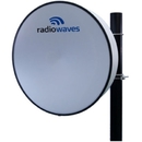 Radio Waves - 10.7-11.7 GHz 3' HP Parabolic Antenna, Dual