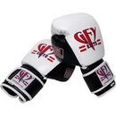 Tiger Claw GFY Elite GEL Boxing/Muay Thai Glove. White and Black