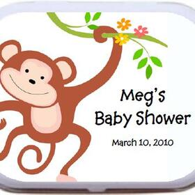 Personalized Mint Tins - Monkey Theme Baby Shower BAS 031 Mint Tins