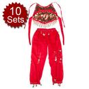 Wholesale 10 Children Belly Dance Costume, Harem Pants & Top Sets