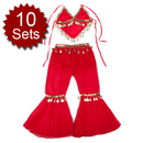 BellyLady Wholesale 10 Children Belly Dance Costume