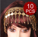 Wholesale Lot Of 10 Belly Dance Metal Headband With Coins