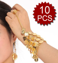 Wholesale 10 Belly Dance Triangle Slave Bracelet With Coins