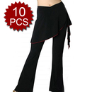 Wholesale 10 Black Tribal Belly Dance Comfortable Pants