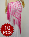 Wholesale Lot 10 Belly Dance Hip Scarf & Shawl, Deluxe V-Shape