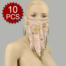 Wholesale Lot 10 Belly Dance Face Veil With Beads