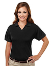 Tri-Mountain 104 Ambition Women's Poly UltraCool mesh johnny collar golf shirt, Embroidery