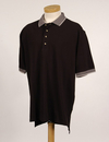 Tri-Mountain 196 Sterling Men's cotton pique golf shirt with jacquard trim, Embroidery