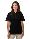 Tri-Mountain 302 Assistant Women's 60/40 easy care knit shirt with snap closure. Ideal cook shirt