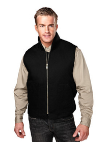 Tri-Mountain 4400 Lodestar Cotton canvas work vest with quilted lining
