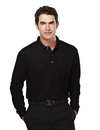 Tri-Mountain 609 Spartan Men's 60/40 pique long sleeve pocketed golf shirt, Embroidery