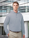 Tri-Mountain 614 Vanguard Men's Cotton/Poly 60/40 Knit LS Polo Shirt, w/ Mic Loops & Pen Pocket, Embroidery