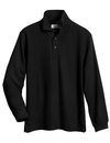 Tri-Mountain 615 Enterprise Men's 60/40 long sleeve easy care knit shirt with snap closure. Ideal cook shirt, Embroidery