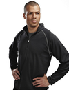 Tri-Mountain 638 Reflex Men's 100% Polyester Jaquard UC 1/4 Zip LS Knit Pullover Shirt, Embroidery