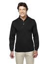Tri-Mountain 658 Escalate Men's Poly UltraCool pique long sleeve golf shirt, Embroidery