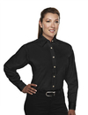 Tri-Mountain 712 Consultant Women's 60/40 easy care long sleeve twill shirt, Embroidery