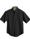 Tri-Mountain 788 Valor Men's cotton short sleeve peached twill shirt, Embroidery