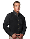 Tri-Mountain 790 Regency Men's cotton long sleeve peached twill shirt, Embroidery