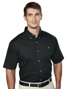 Tri-Mountain 808 Director Men's cotton short sleeve twill shirt, Embroidery