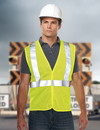 Tri-Mountain 8430 Zone Polyester safety vest. ANSI Class 2 / Level 2, Embroidery