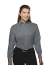Tri-Mountain 852 Metro Women's rayon/poly long sleeve shirt with mini-houndstooth pattern, Embroidery