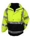 Tri-Mountain 8980 Industry 3-in-1 system waterproof safety parka. ANSI Class 3, Embroidery