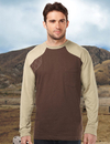 Tri-Mountain K086LS Woodruff Long Sleeve Men's LS Shooter Tee w/Contrast Quilted Patch