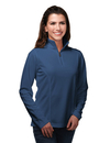 Tri-Mountain KL628 Lady Clementon Women's 100% Polyester Knit 1/4 Zip Pullover w/TMP puller, Embroidery
