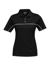 Tri-Mountain KL908 Double-Clutch Women's 100% polyester color blocking polo shirt, Embroidery