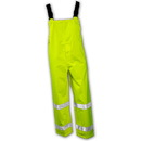 Tingley The Icon Premium ANSI Compliant Breathable And High Visibility Outerwear - Polyurethane On 300 Denier Polyester Overall - Fluorescent Yellow-Green - Snap Fly Front - Silver Reflective Tape