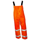 Tingley The Icon Premium ANSI Compliant Breathable And High Visibility Outerwear - Polyurethane On 300 Denier Polyester Overall - Fluorescent Orange-Red - Snap Fly Front - Silver Reflective Tape