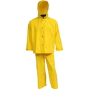 Tingley  35mm PVC On Polyester Industrial Work Suit - Yellow - 3 Pc - Jacket - Storm Fly Front - Detachable Hood - Fly Front Overall