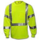 Tingley Birds Eye Polyester, Class 3 High Visibility T-Shirt Fluorescent Yellow-Green - Long Sleeve - 2