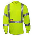 Tingley 8 5 ounce, 55% Modacrylic/45% Cotton Blend - Solid, Class 2 High Visibility FR T-Shirts