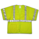 Tingley Polyester Mesh, Hook & Loop Closure, Class 3 High Visibility Vests Fluorescent Yellow-Green