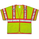 Tingley Polyester Mesh, Two-Tone, Zipper, Class 3 High Visibility Vests Fluorescent Yellow-Green